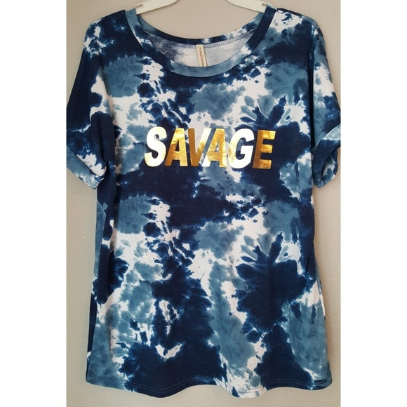 8f362b187 Pink Berry Tops | Workout Camo Savage Tshirt Nwot | Poshmark